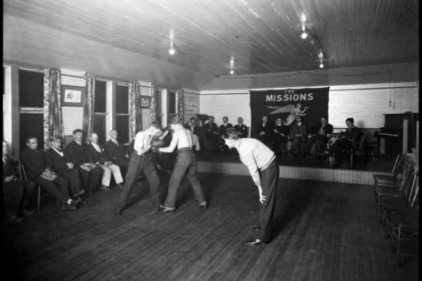 Seamen's Institute Boxing, September 12, 1927. Vancouver Public Library Archives