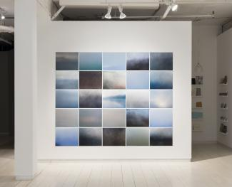 a large grid of five rows of five photographs by Karen Zalamea