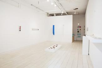 install view of sculptural objects in gallery space