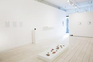 install view of sculptural objects in a gallery space