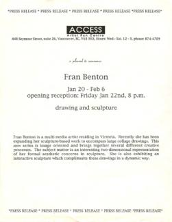 Press Release Drawing and Sculpture