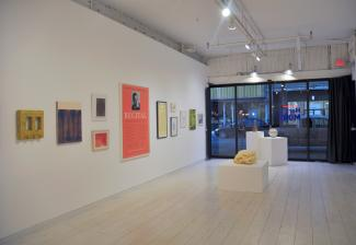 installation view of group exhibition