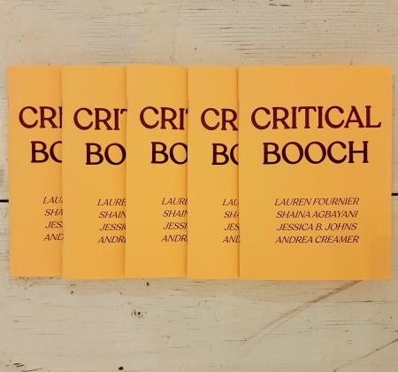 Stack of five Critical Booch publication on the ground at Access Gallery.